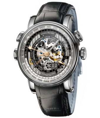 Arnold and Son Hornet World Timer Skeleton 47mm 1H6AS.O01A.C79F