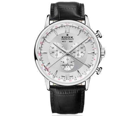 Edox Les Bemonts Chronograph Complication 42mm Q 10501-3-AIN