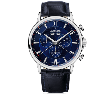 Edox Les Bemonts Chronograph Complication 42mm Q 10501-3-BUIN