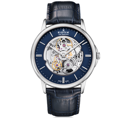 Edox Les Bemonts Open Heart 42mm 85300-3-BUIN