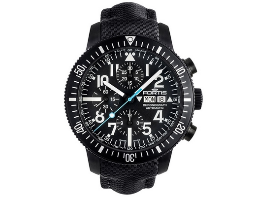 Fortis Diver Black Chronograph 42mm 638.18.41