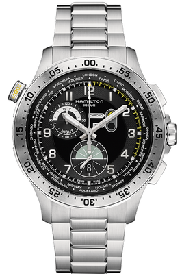 Hamilton Khaki Chrono Worldtimer 45mm H76714135