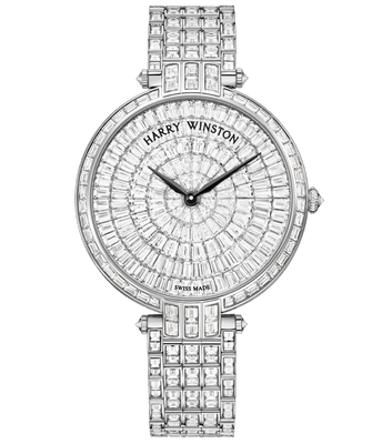 Harry Winston Premier Ladies Baguette-Cut Diamonds 39mm Q PRNQHM39WW006