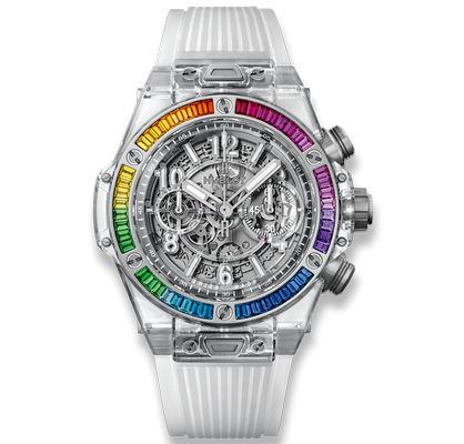Hublot Big Bang Unico Sapphire Rainbow 45mm 411.JX.4803.RT.4099