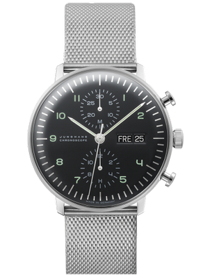 Junghans Max Bill Chronoscope 40mm 027 4500.44