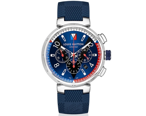 Louis Vuitton Tambour Blue Chronograph 46mm QAAAA7