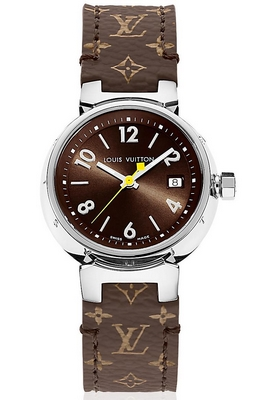 Louis Vuitton Tambour Brun 28mm Q QAAA30