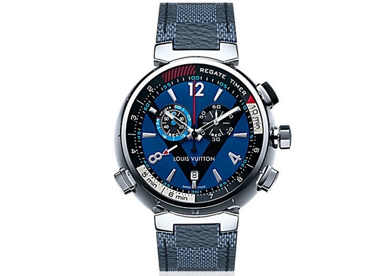 Louis Vuitton Tambour Regatte Navy 44mm Q QAAAA4