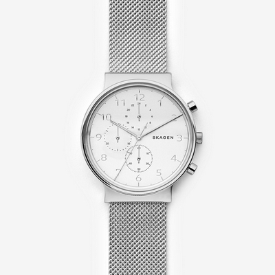 Skagen Ancher Steel-Mesh Chronograph 42mm Q SKW6361P