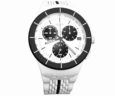 Swatch Piste Noir 42mm Q SUSW407