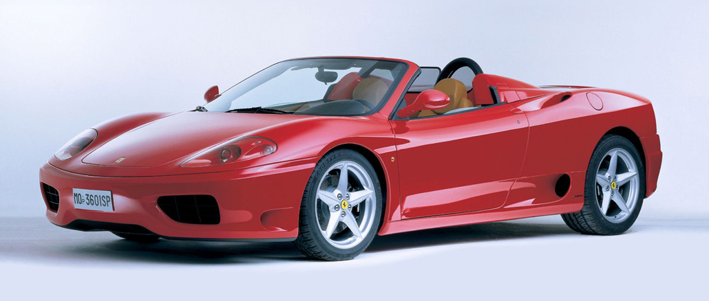 2000 Header Ferrari 360 Spider