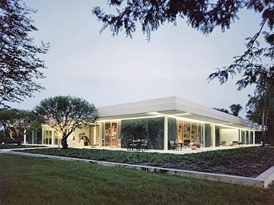 1953 Miller House Columbus Indiana USA Eero Saarinen