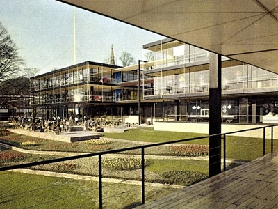 1958 Expo Pavillon Brussels Belgium Egon Eiermann and Sep Ruf1