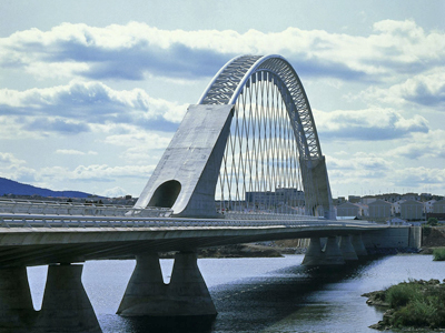 1991_Lusitania Bridge Merida Spain Santiago Calatrava
